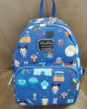 Disney Parks Icon Loungefly Mini Backpack Yeti Ghost Mickey Small World ... - $89.09