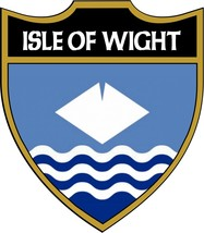 Isle of Wight County Flag Number Plate Decals