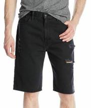 Levi's Men's Cotton Loose Straight Distressed Denim Shorts Black 355690212 image 1
