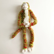 "Dan Dee Hanging Monkey Red Green Plush Stuffed Animal Long Arms & Legs 23""  - $16.81"