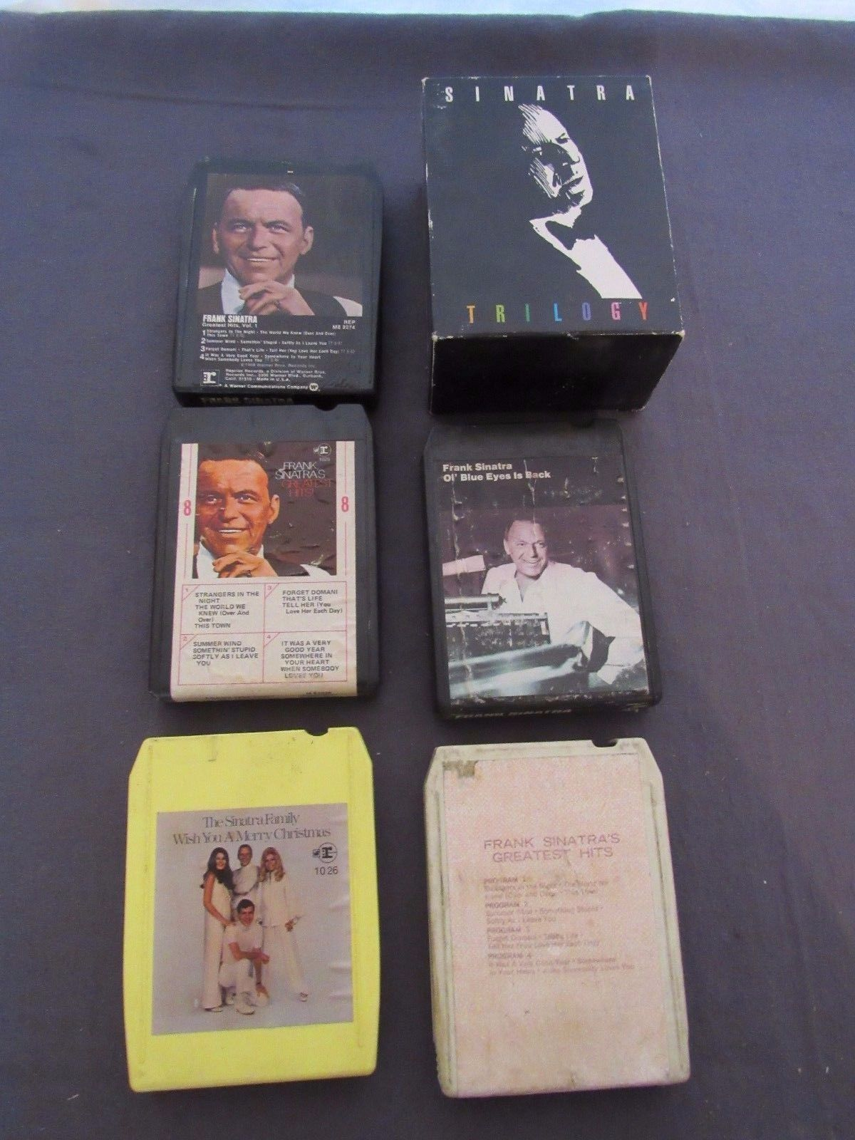 8-Track Lot Frank Sinatra Trilogy Blue Eyes Greatest Hits Family Christmas