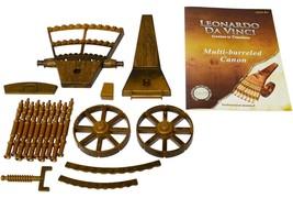 Da Vinci Multi barrelled cannon model kit hobby wood learning history sk... - $19.99