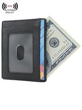 Wallet Mens Slim Genuine Leather Minimalist Front Pocket - $24.54