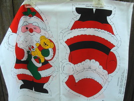 Snowman and Santa Doll Fabric Panel - $12.99