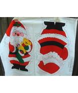Snowman and Santa Doll Fabric Panel - $12.99