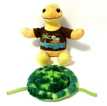 """BAB Sea Turtle Yellow Removable Green Shell Retired 17"""" Build A Bear 2012 - $19.31"""