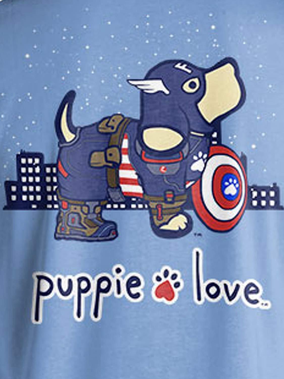 Puppie Love Rescue Dog Adult Unisex Short Sleeve Graphic T-Shirt, Super Hero Pup