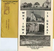 Why Iowa is Great Agriculture Department Booklet & Envelope 1955 - $17.82