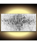 Black and White Abstract Wall Art fine art PRINT on stretched canvas 48x... - $345.00