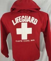 Cape Cod MA Lifeguard Red Sweatshirt Hoodie Cotton Blend M Medium - $49.99