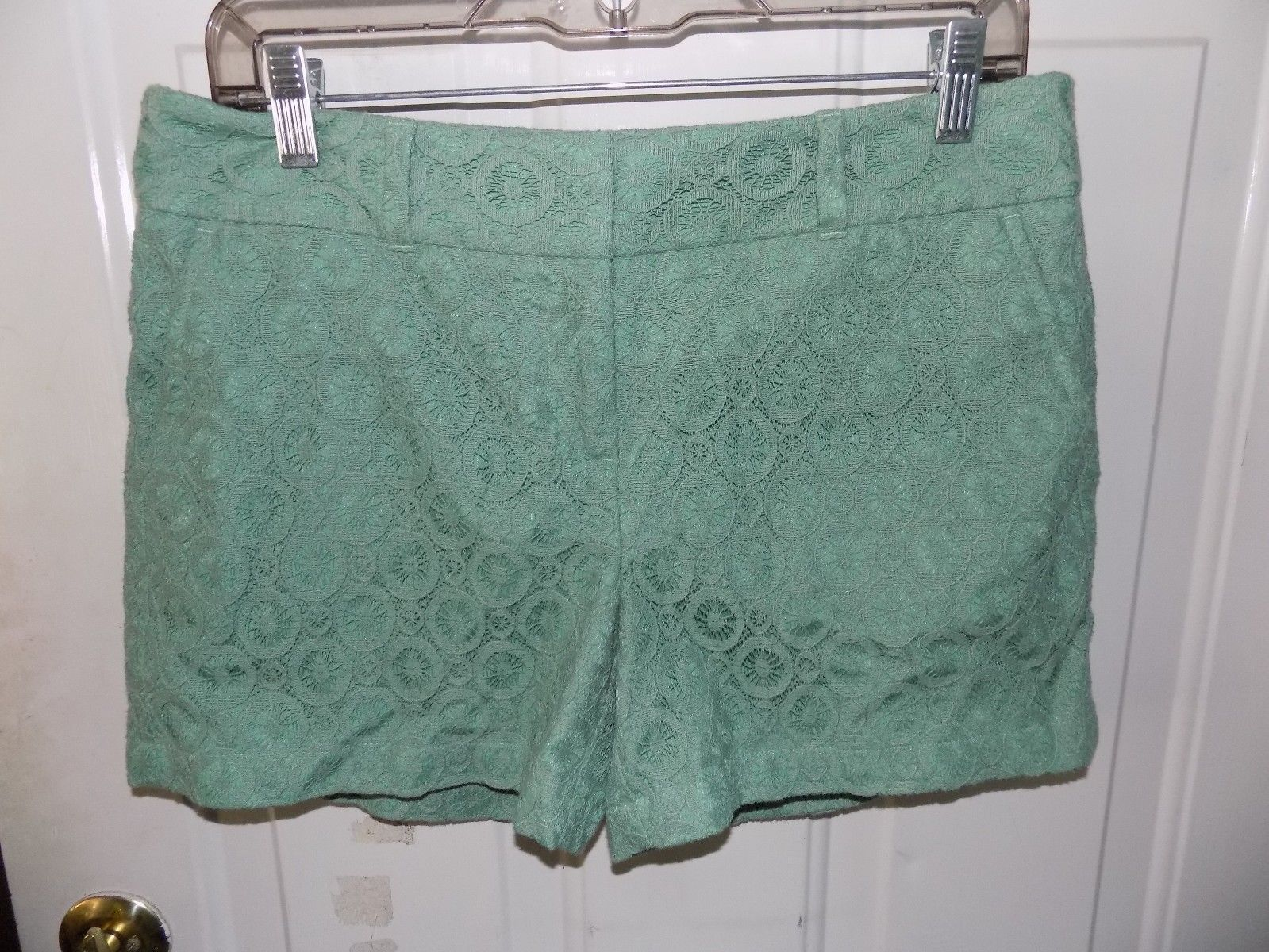 Primary image for 1861 Ann Taylor Loft Outlet Sage Lace Mid Rise Shorts Size 4 Women's NWOT