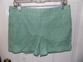 1861 Ann Taylor Loft Outlet Sage Lace Mid Rise Shorts Size 4 Women's NWOT - $19.44