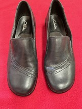 Clarks Women's Shoes Size 7M Leather Black - $15.44