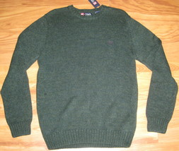 New Chaps Knit Sweater Cotton Green 100% Cotton Large L Lrg Nwt $69.50 Knitted - $28.04