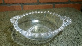 Candlewick Beaded Pattern Handled Candy Dish - Indiana Glass Co 1940s - $14.85