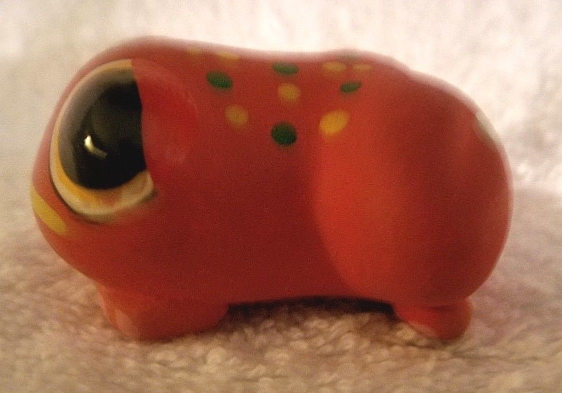 Gloria A Dios Ceramic Frog Figurine Hand Painted Signed Costa Rica ADORABLE! image 3