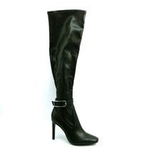 Marc Fisher Womans High Heel Over the Knee Boots Black Side Zipper Sz 7.5 M NEW - $47.49