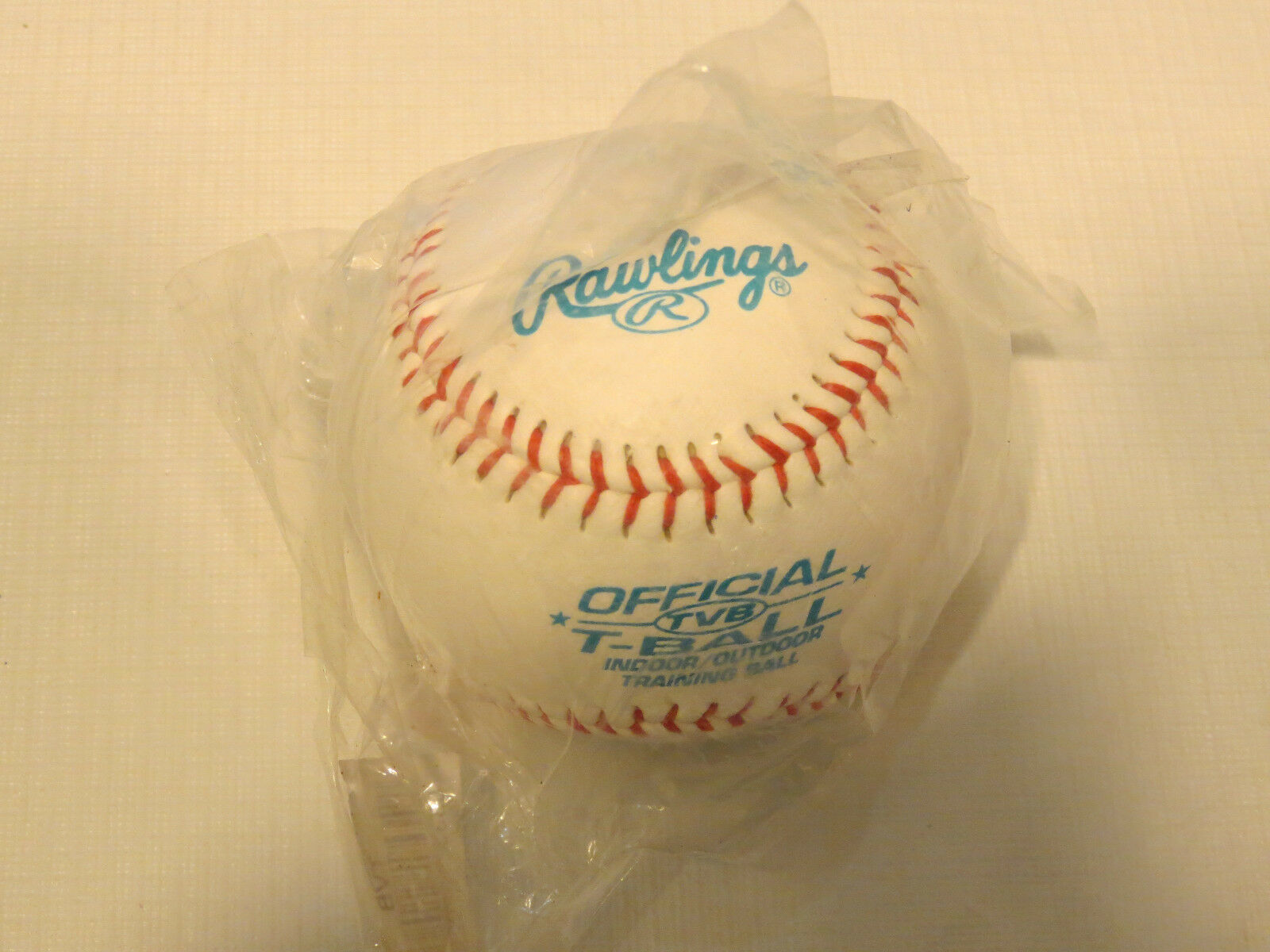 "Primary image for 1 baseball Baseballs Rawlings Official TVB T-Ball indoor outdoor training 9"" NOS"