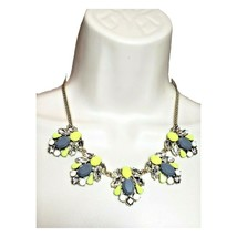 J.Crew Chunky Yellow Statement Rhinestone Flower Necklace - $22.76