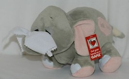 GANZ Brand H13402 Grey Pink Color Get Well Ellie Elephant With Tissue - $17.99