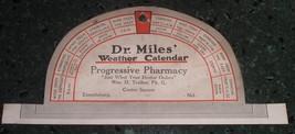 Antique Advertising Dr. Miles hanger / Sign Progressive Pharmacy Emmitsb... - $25.00