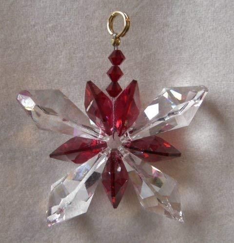 J'Leen Clear Crystal Butterfly Bordeaux Accents