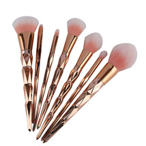 6pcs 7/8Pcs Diamond Rose Gold Makeup Brushes Set Foundation Powder Blush A - $20.00