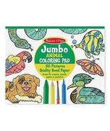 Jumbo Coloring Pad - Animal by Melissa & Doug Brand New Free Expedited S... - $12.60