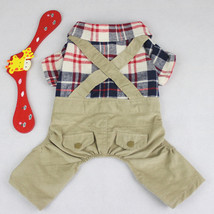 Plaid Dog Clothes for Small Dogs Pet Dog Jumpsuit Coats Jacket Chihuahua... - $508,27 MXN