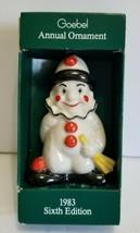1983 Goebel Annual Christmas Ornament Clown 6th Edition - $10.80