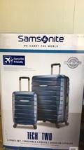 "Samsonite TECH TWO 2.0 2-Piece Hardside Set Luggage Blue 27"" & 21""  - $129.99"