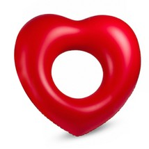 "Big Heart Inflatable Pool Raft Ride On Floats Swim Tube for Adults 47.2"" 120cm image 1"