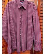 Wrangler Men's Long Sleeve Shirt XL Cool River Cotton Red Plaid Rockabilly - $9.00