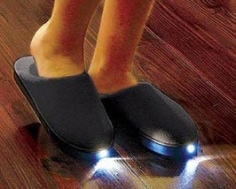 NEW! Slippers Men's 5-6, Women's 6-7 Bright Feet Lighted See in the Dark US - $22.65