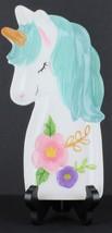 Boston Warehouse Unicorn Spoon Rest, Hand Painted Ceramic - $18.81