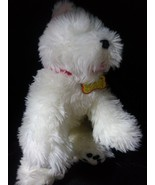 Build A Bear White Scottie Dog Old Tag Bows and Red Collar BABW Black Paws - $16.99