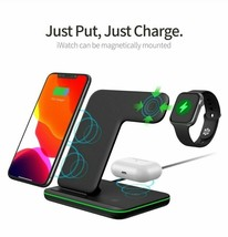 Techno S Fast 3 in 1 Wireless Dock Charging Station for Apple,Samsung + ... - $59.79