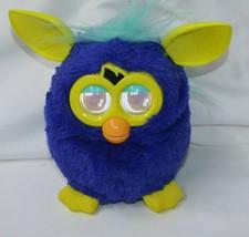 Furby 2012 Dark Royal Blue Yellow A3123/39834 Hasbro Electronics Tested - $22.80