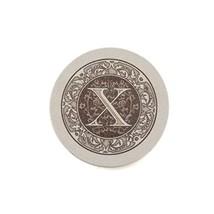 Thirstystone Absorbent Monogram Sandstone Coaster Set, Letter X, - $22.43