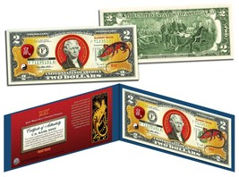 Chinese Zodiac * YEAR OF THE RAT * Colorized $2 Bill US Legal Tender Luc... - $13.06