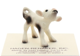 Hagen-Renaker Miniature Ceramic Cow Figurine Spotted Mama and Baby Calf image 5