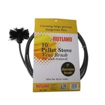 Rutland 3-Inch Pellet Stove/Dryer Vent Brush with 10-Feet Handle  - $34.55