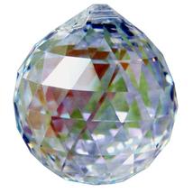 Swarovski 30mm Aurora Borealis Crystal Faceted Ball Prism image 2