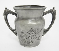 Vintage Albany Silverplate Open Sugar Bowl Spooner Triple Plate Handled ... - $13.85