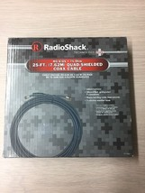 RadioShack Coax Cable 25ft RG-6/QS 75-Ohm  Indoor/Outdoor HDTV Cable AE6