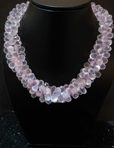Natural Rose Quartz Necklace - $250.00