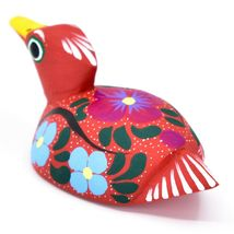 Handmade Alebrijes Oaxacan Wood Carved Painted Folk Art Duck Figurine image 3