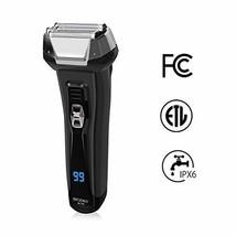 BriGenius Men's Electric Foil Shaver, USB Rechargeable Cordless Electric Razor w