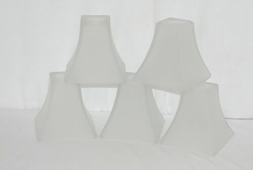 Hampton Bay Abbey Collection lot of 5 Frosted Square Replacement Glass Shades