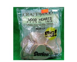 Darice Craftwood Wood Heart Cutouts bag of 14 (2 x 1/4 in) - $6.44